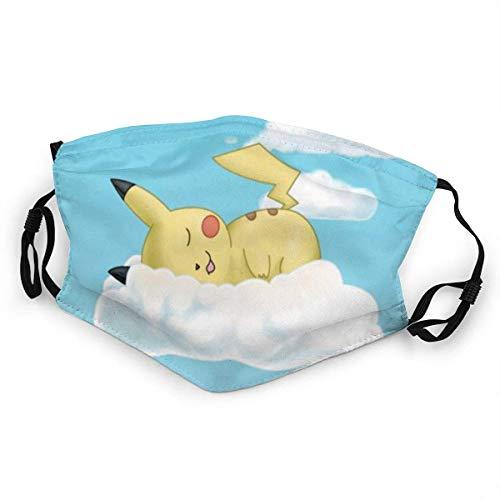 Schlafender Pikachu Mundschutz Anti-Staub Waschbar Wiederverwendbarer Mundschutz Modedesign für Kinder Jungen Mädchen Teenager