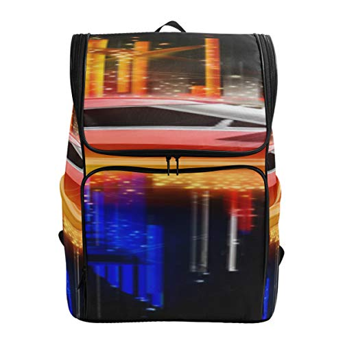 Elegant Colorful Supercar Tote Bag For College Youth Hiking Bag Best College Bags Travel Cooler Bag Fits 15.6 Inch Laptop And Notebook Kid Daypack Bookbag For Women
