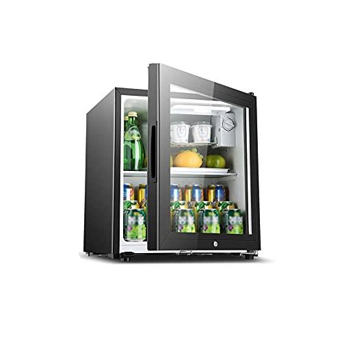 QINGZHUO Mininevera,refrigerador Retro,refrigerador De Bebidas con Puerta De Vidrio,refrigerador De Bebidas para El Hogar De La Oficina.