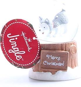 Hallmark 2012 Christmas XKT1096 Jingle The Husky Pup Mini Snow Globe
