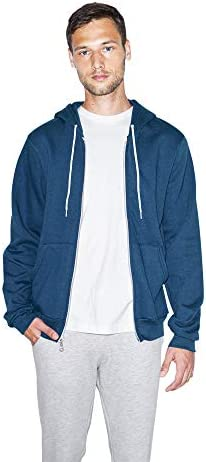 American Apparel Unisex Flex Fleece Long Sleeve Zip Hoodie USA Collection Ultra Blue Large product image