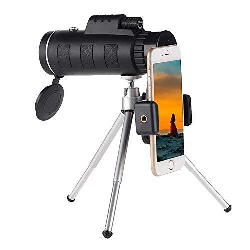 Telescopio para Teléfono Móvil Prisma De Alta Potencia 40x60 Bak4 Mini Telescopio Portátil De Mano para Teléfono Inteligente Niebla Impermeable con Trípode para iPhone Samsung Travel