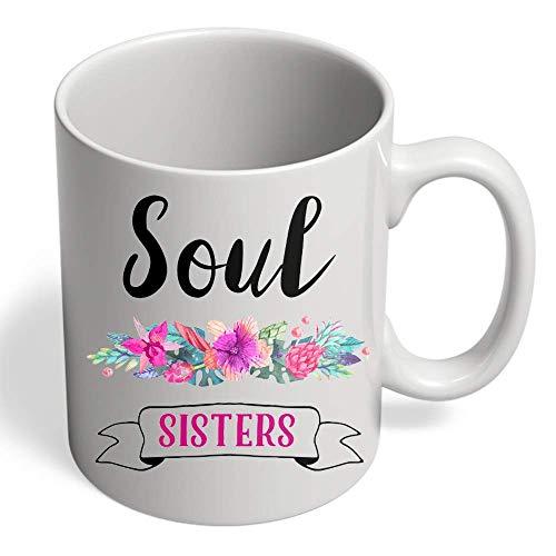 WTOMUG Mug Gift for Sister Soul Sisters Punjabi Sister Birthday Gift from Brother 11 Ounce (Oz.) White Ceramic Coffee Mug