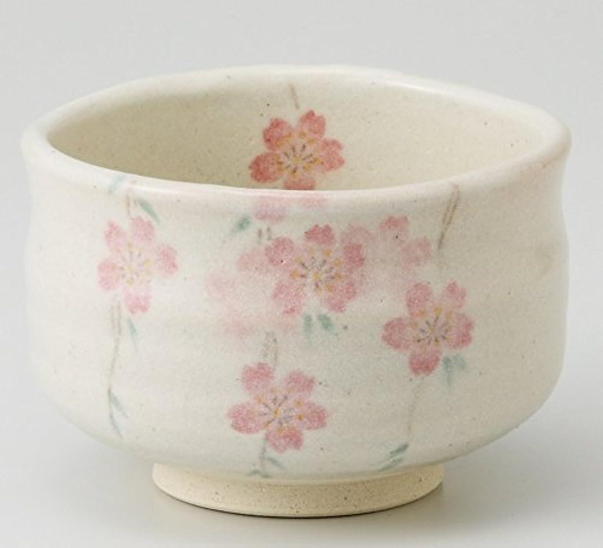 波紋アイザック胚エールネット(Ale-net) 抹茶碗 ピンク φ11.5×8cm 枝垂れ桜 茶碗
