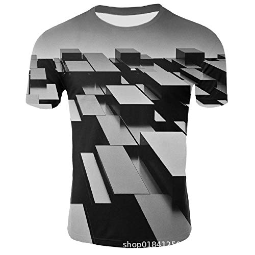 T-shirts 3D gedrukte driedimensionale puzzel mode heren korte mouwen sport casual ronde hals mouwen korte mouwen