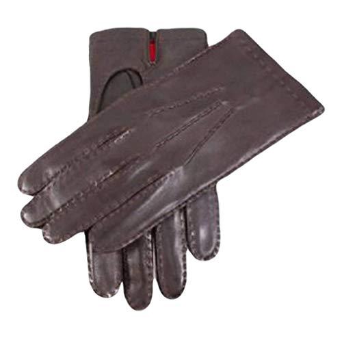 Dents Brown Silk doublé Kingston cuir gants 9