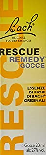 scheda rescue remedy, giallo acceso, 20 millilitri