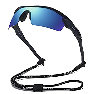 Bevi Polarized Sports Sunglasses TR90 Unbreakable Frame for Men Women Running Cycling Fishing Golf Baseball TPH2C2