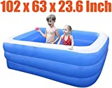 JBZP Play Water Lawn Sprinklers-Inflatable Pool, Family Lounge Pool, Inflatable Lounge Pool for Kiddie, Adults, Easy Set Pool for Backyard, Summer Water Party, Outdoor, L