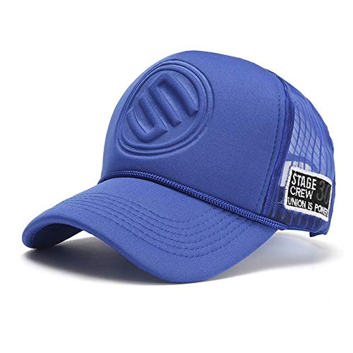 New Trucker Hat Hip Hop Curved Baseball Caps Men And Women outdoor Summer Meshed Snapback Hat For Male Hip Hop Hats-blue