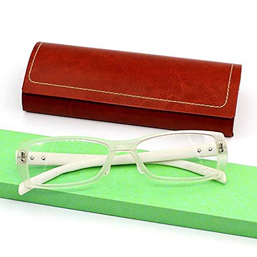 Equipo Gafas de lectura,Protección radiológica Anti-fatiga Los lectores de moda Marco completo Hd Peso ligero Unisex-A +2.5