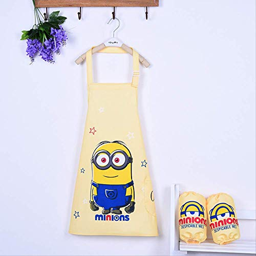 FHFF Schort Waterproof Aprons Children's Drawing Clothes Pupils Anti-Wearing Smock Mouwloos Painting Clothes 2-5 jaar Old Height 100-150Cm