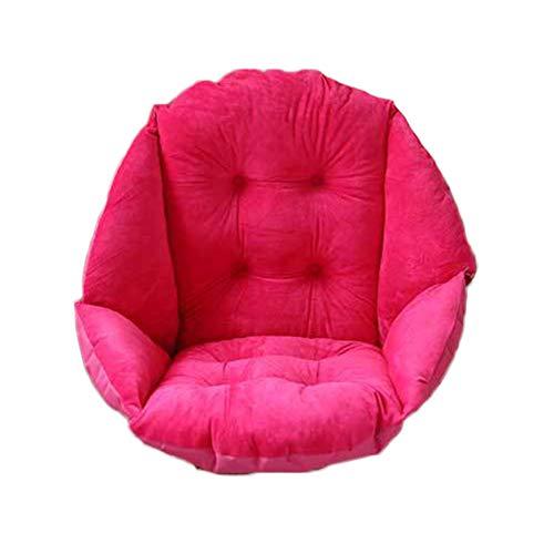 Cuscino Spesso Sedia con Schienale per L'Ufficio Auto Poltrona Sospesa da Giardino Sedia Dondolo Amaca Rosa 40X48CM