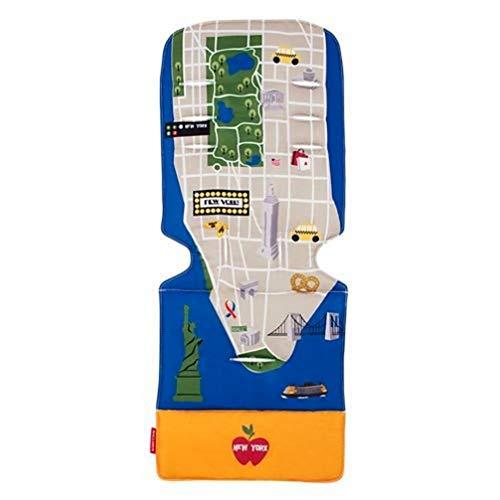 Maclaren Colchoneta Universal, Accesorio para Sillas de Paseo que Aporta Estilo y Comodidad, reversible, lavable a máquina, se adapta a la mayoría de las marcas, New York City Map