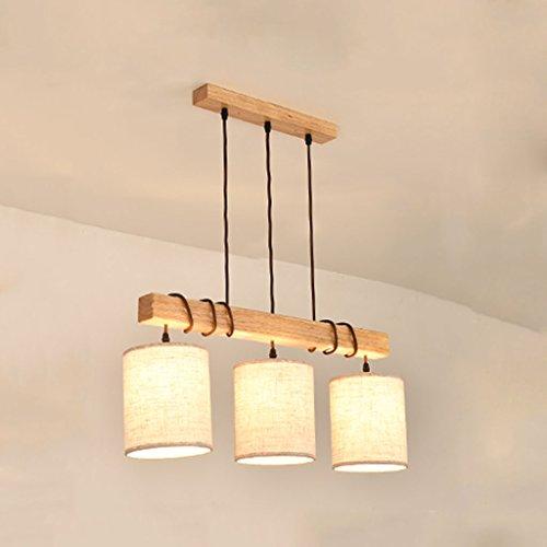 Vast linnen doek met 3 koppen, om op te hangen, van rubber, licht, van hout, energiebesparend, voor de slaapkamer 307