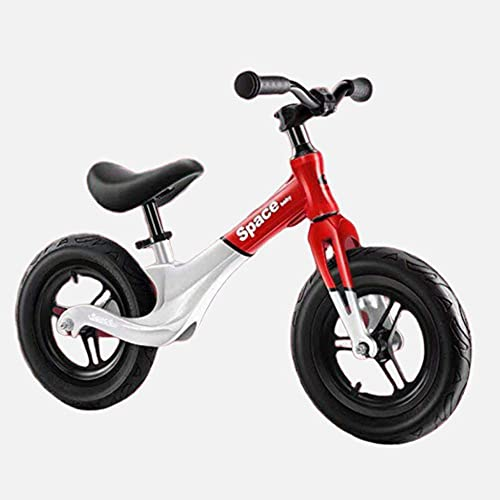 HUAQINEI Bicicleta de Equilibrio para niños Asiento Ajustable en Altura Neumáticos de Goma Gruesos Resistencia a la compresión y la abrasión Caminar sin Pedales