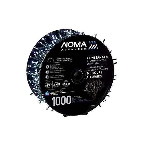 NOMA LED Advanced Cluster Christmas Lights | Indoor & Outdoor String Lights with 7 Modes | 1000 Multi-Color Bulbs | 83.75 Ft. Strand