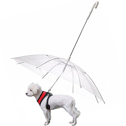 OMEM Paraguas de perro con correa para mascotas al aire libre a...