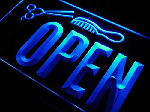 ADV PRO Enseigne Lumineuse j815-b Open Hair Cut Scissor Barber Shop New Light Sign