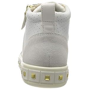Geox D LEELU' G, Zapatillas Altas Mujer, Blanco (White/Off White C1352), 37 EU