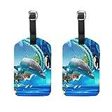 DEZIRO Gepäckanhänger Delphin Pinguin Gelee, für Aquarien, 2 Stück