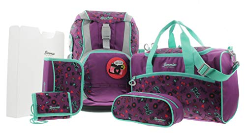 Sammies by Samsonite Ergofit Set 2.0, Schulranzen Set 6 teilig, 40 x 23 x 28 cm, 20 Liter (Doodle Purple)