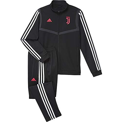 adidas 19/20 Juventus Polyester Suit Youth Suits, Unisex Kinder M Schwarz/Dunkelgrau