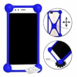Blue Shockproof Silicone Bumper Case for Huawei G7 Plus