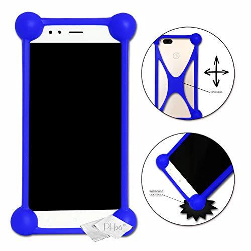 Unbekannt Stoßfeste Schutzhülle für Wiko Sublim, aus hochwertigem Silikon, Blau