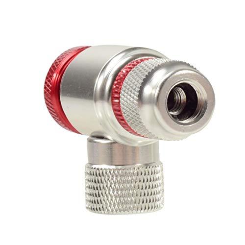 NaiCasy Inflador de CO2 Cabeza de Bicicletas Neumáticos Presta y Schrader válvulas de Plata Compatible neumático de la Bici Bomba Cabeza de aleación de Aluminio