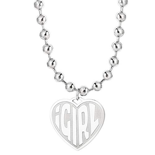 2020 Stainless Steel IGIRL Heart Necklace Women Heavy Duty Gothic Streetwear Chain Necklace Choker Metal Collar Goth Jewelry
