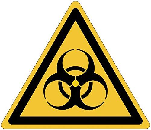 StickersLab W009 - Señal de peligro biológico (ISO 7010)