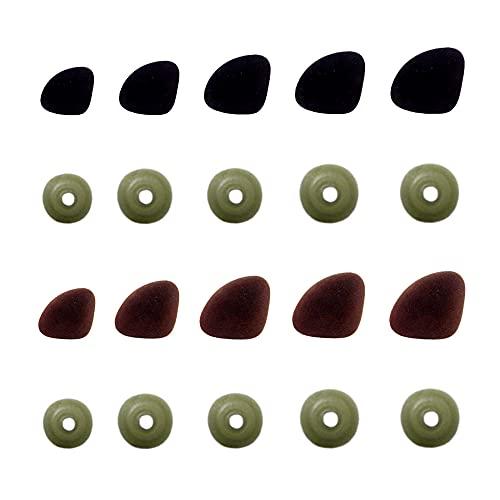 Dtaeye Plástico Negro Nariz 100 Piezas Nariz de Plástico para Manualidades Craft Narices con Arandelas Manualidades con Arandelas Accesorios para la Fabricación de la Nariz