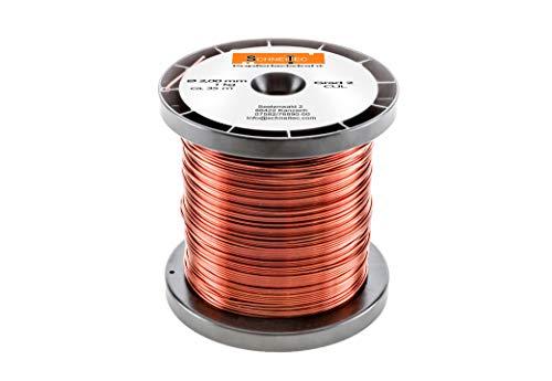Kupferlackdraht W210 Ø 2,00 mm 1kg CU Lackdraht Grad 2 CUL Kupferdraht Gewicht 1 Kilogramm Durchmesser 2,00 Millimeter Wickeldraht Kupfer Draht nach IEC 60317-13