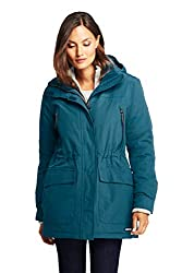 Land's End teal vegan coat for the winter