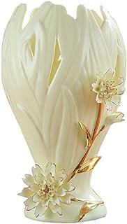 المزهريات المزهريات الخزفية المزخرفة بالزهور الحرفية المذهبة ترتيب أنيق إبداعي مزهريات للزهور مزهريات بسيطة للزهور