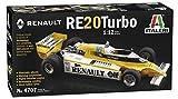 Italeri - Renault RE20 Turbo Scala 1:12 Automobili Modellismo, Modello in Plastica da Asse...