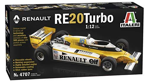ITALERI 4707S - 1:12 Renault RE 20 Turbo, Modellbau, Bausatz, Standmodellbau, Basteln, Hobby, Kleben, Plastikbausatz