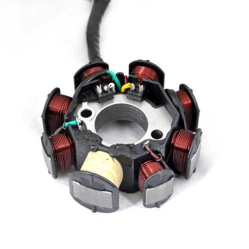 Wotefusi Moto éclairage cuivre 8 pôles magnéto Stator Bobine 12V ATV