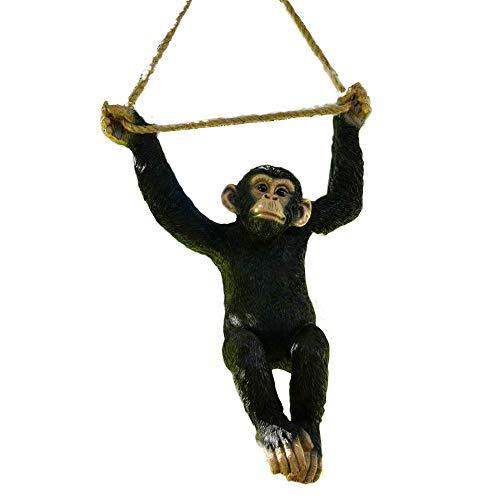Darthome Ltd Climbing Monkey Tree Hanging Garden Tree Ornament Statue Sculpture Decoration C