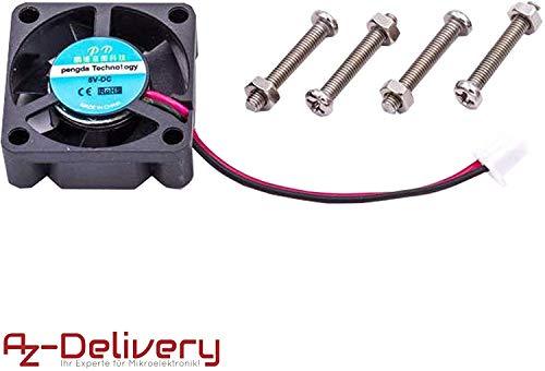 AZDelivery ⭐⭐⭐⭐⭐ Aktiver Miniventilator Kühl- Axial- Ventilator für Raspberry Pi