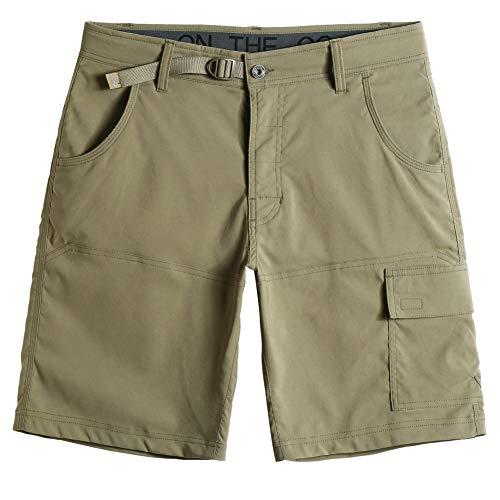 MaaMgic Pantalones Cortos Hombre Bermudas Cargo Hombre Pantalones de Acampada y Senderismo Pantalon Montaña Hombre Respirable Nailon Ligero Secado Rápido, Aceituna, Size 34