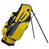 Golf-Tragebags, Golfbag Verschleißfeste, rutschfeste Golf-Standtasche Herren- und Damen-Golfzubehör Golfschlägertasche mit mehreren Funktionsfach-Taschen ( Farbe : Gelb , Größe : 76*22*28cm )