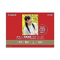 (まとめ) キャノン Canon 写真用紙・光沢 ゴールド 印画紙タイプ GL-101L400 L判 2310B003 1箱(400枚) 〔×2セット〕