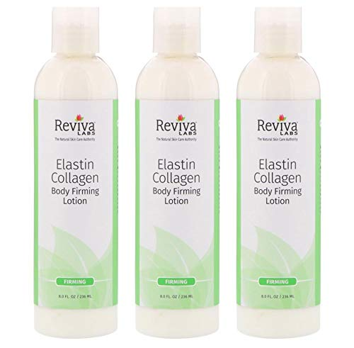 Reviva Labs Body Firming Lotion, Elastin & Collagen 8 ounces, 3 Pack