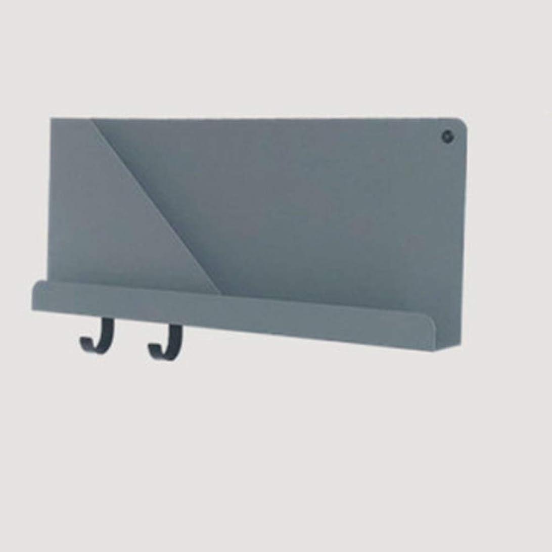 故国ハイジャックフィルタフローティング ウォールラック,壁付け メタル 装飾 ウォールシェルフ リング付属 けシェルフ リビング ルームの壁 クチヘン ディスプレイ棚-グレー 51x6.9x22cm(20x3x9inch)