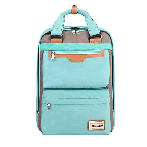 FANDARE Mujer Mochila Casual Bolso Escolar Niñas Backpack Bolsos de Mano para 16 Inch Portátil Daypack Negocio Viajes Colegio Trabajo Compras Impermeable Mochila Azul
