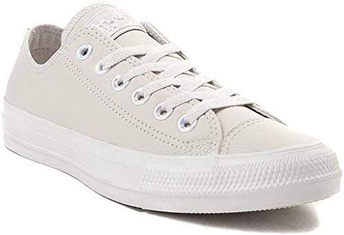 Converse Unisex Chuck Taylor All Star Low/Hi Top Sneaker (Mens 4/Womens 6, Lo Leather Pale Putty 9657)