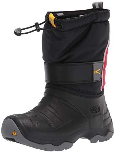 KEEN umi Boot 2 Waterproof Snow, Black/Red Carpet, 7 US Unisex Big Kid