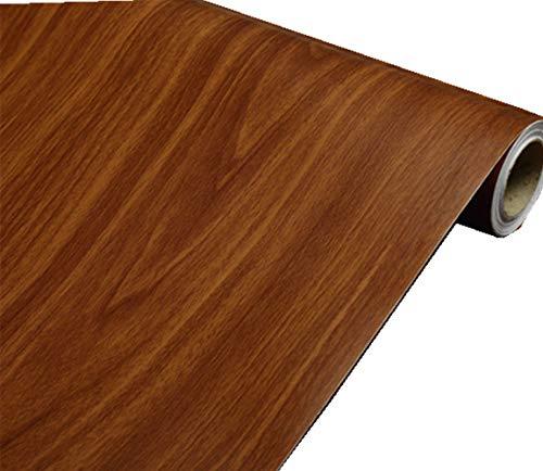 Bruin Hout Graan Lijm Papier Peel Stick Behang Lade Dresser Plank Liner Tafeldeur Decoratieve Papier Sticker Zelfklevende 16inch door 79inch
